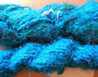 60+ Yards,  100 grams,  Banana Fiber Yarn, Turquoise,  Fair Trade item