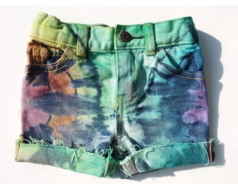 Over the Rainbow Shorts/ Tie Dye Kids shorts