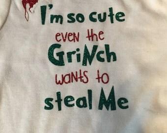 Im So Cute-Grinch Glitter Vinyl Shirt/Onesie
