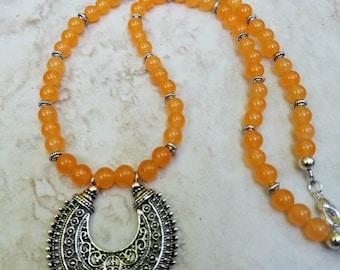 Yellow Orange Tribal Necklace / Summer Jewelry / Gifts for Her / Summer Necklace / Tribal Necklace