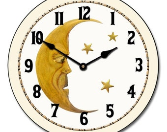 Vintage Moon Wall Clock