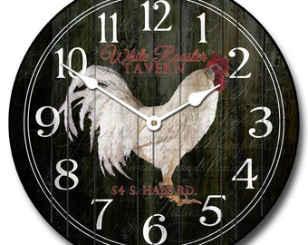White Rooster Tavern Wall Clock
