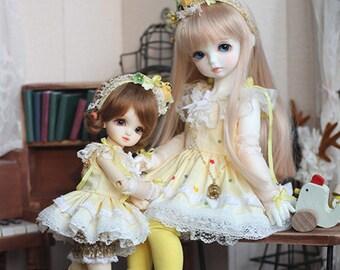 Yellow Bird ver.2 , Dress for MSD/YOSD Girl (BJD)