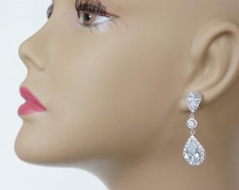 Crystal Chandelier Bridal Earrings Wedding Earrings Chandelier Earrings Swarovski Wedding Earrings Vintage Wedding Jewelry Bridal Jewelry