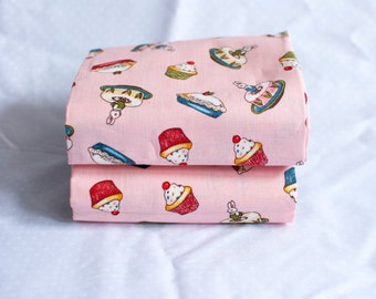 Fat Quarter | Cupcake Fabric | Penny Rose Fabrics | Riley Blake | Paper Dolls Bakery | Pink Fabric
