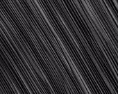 Black Chiffon Mushroom Pleating - 2 Yards Pleated Fabric