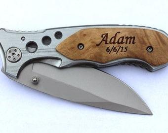 Custom Engraved Pocket Knife, Personalized Folding Knives,  Personalized Groomsmen Gift, Groomsman Gift, Gifts for Groomsmen, Hunting Knives