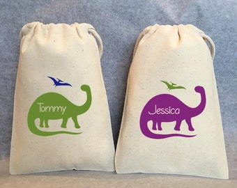"14- Dinosaur party, Dinosaur, Dinosaur favor, Dino birthday, Dinosaur Birthday, Dino Party, Brontosaurus, Dinosaur party favor bags, 4""x6"""