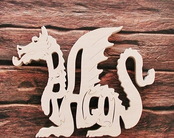 Dragon Toy Wood Puzzle Very Detailed Cut On Scroll Saw Woodworking