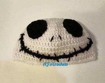 Jack Skellington Hat, Crochet Hat, Nightmare Before Christmas Hat, Crochet Skeleton Hat, Skeleton Hat, Crochet Jack Skellington Hat, Beanie