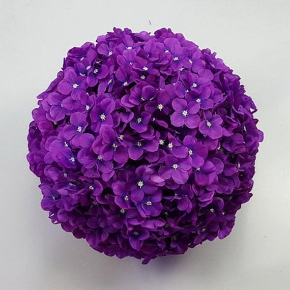 Silk hydrangea kissing balls set of flower