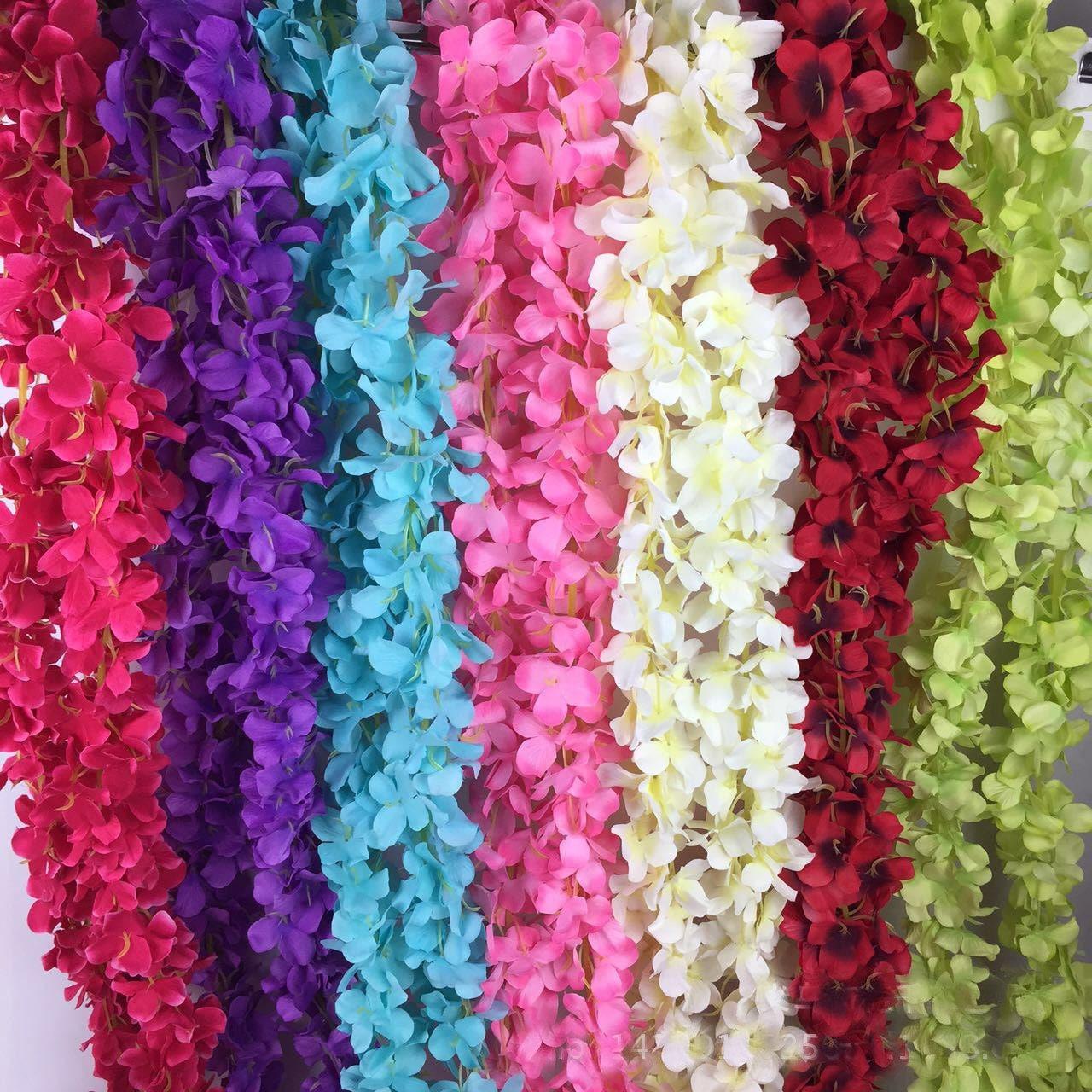 Wedding Draping Flower Ceiling Decorative Flowers Silk