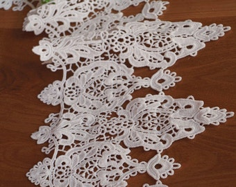 off white crochet lace trim, vintage style lace trim