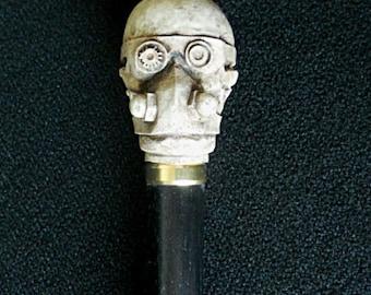 Steampunk Cane Walking Stick Skull Handle Stick Dress Cosplay
