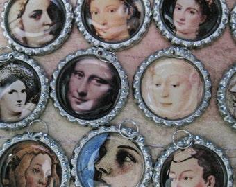 Renaissance Women Wine Glass Tags (Set of 12) C685