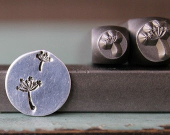 Brand New 6mm Dandelion Flower and 3.5mm Puff Metal Design Stamp Set - SGCH-8485