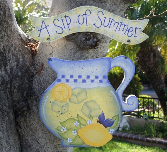 Summer Wood Hanging Sign Or Yard Stake Outdoor Or Indoor