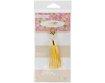 Yellow Planner Tassel Charm - Traveler's Notebook Charm - Journal Charm - Planner Tassel - Yellow Tassel - Webster's Pages - 513868