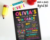 First day of school sign- 2 sizes available - PDF- Memory sign- Digital file
