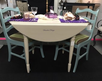 Shabby Chic Cottage Chic Drop Leaf Table