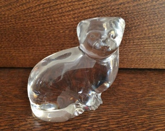 VILLEROY & BOCH CRYSTAL Cat Figurine