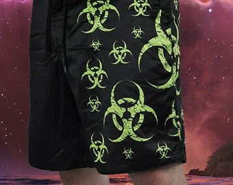Cryoflesh Biohazard Decay Cybergoth Cyberpunk Gothic Industrial Zombie Boardshorts Swim Trunks Swimwear