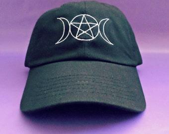 Triple Goddess Pentacle Baseball Hat