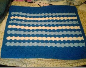 Baby Afghan, stroller blanket,bassinet blanket. Lot  114
