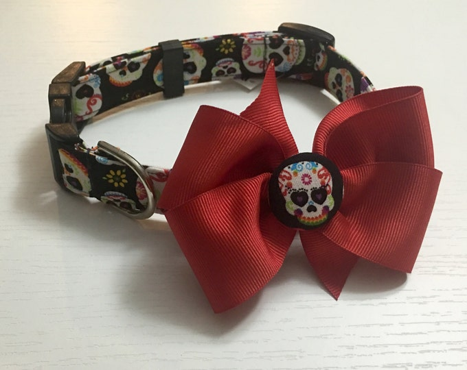Sugar Skulls Collar with Bow
