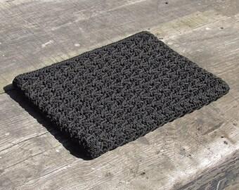 Black Corde Vintage Clutch 1940's Evening Bag