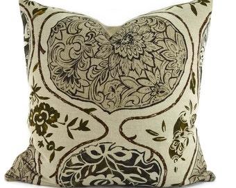 Katsugi Ikat Throw Pillow Cover, 20x20, Schumacher Linen Fabric
