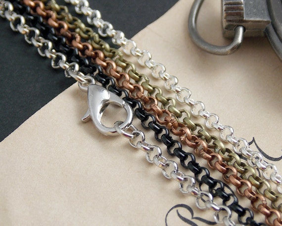 10 18 inch rolo chains rolo loop style necklace for Lilly d s craft supplies