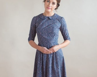 Floral dress with Peter Pan collar