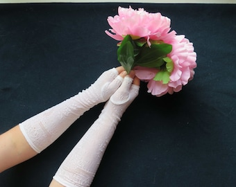 Antique French Romantic Fingerless Gloves-Vintage Fashion from France for Chic Bride.