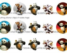 Kung fu panda  3  INSTANT download bottle cap images  hair bow images karate