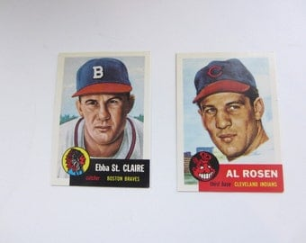Al Rosen and Ebba St. Claire 1953 Topps Baseball Archives Reprint Cards