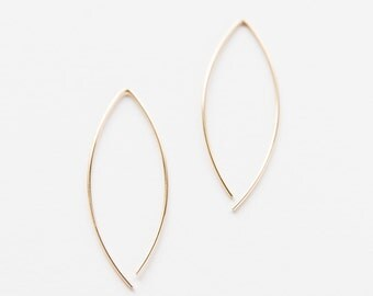 Gold Filled Marquis Earrings