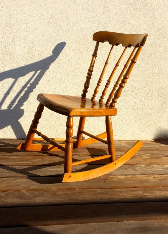 Antique Child's Rocking Chair Wooden Armless Rocker Rocking Chair Chair  Nursery Rocking Chair Child's Rocker Small Rocker American Furniture - Antique Child's Rocking Chair Wooden Armless Rocker