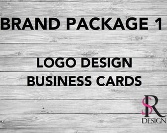 Logo Design, Business Cards, Branding Package, 1000 Cards
