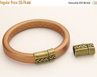 45% OFF Tribal  Pushpin PRESSURE Clasp Antique Brass - for use with 10x6mm Licorice Leather and Regaliz Leather Cord - (Qty.1)