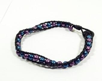 Dark Violet and Blue Bracelet - Darkest Wishes from Darkest Clouds
