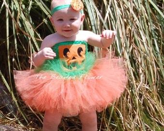 Baby pumpkin tutu dress toddler outfit halloween costume pumpkin costume