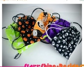 Sale 25% Off BJD MSD 1/4 Doll Accessories - Halloween Print Drawstring Backpack - 5 Choices