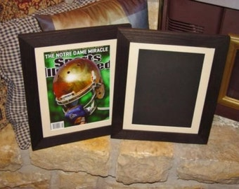 sports illustrated magazine frame current size solid cedar light matted dark finish rustic display