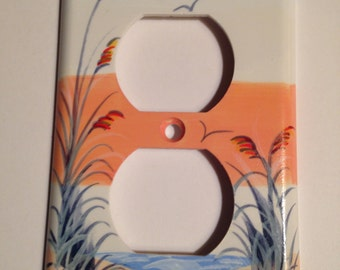 Sand Dune with Sea Oats Single outlet switchplate