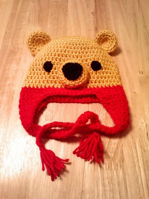 Crochet Pooh Bear Hat Pattern : Crochet Pattern-Kawaii-Pooh Hat-Crochet Bear Hat-Winnie ...