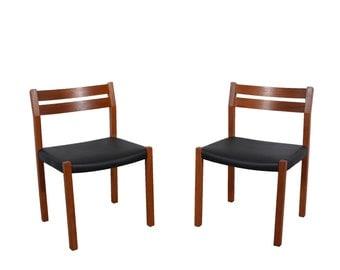 J.L. Moller 4 Teak Dining Chairs  Denmark