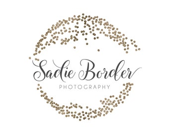 Glitter Circle Logo - Premade Photography Logo and Watermark Design - Photography or Boutique Logo  - Business Branding