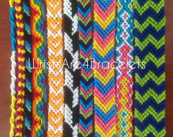 Customizable Friendship Bracelets - 10 Style Options - Design Your Own Friendship Bracelet!