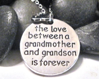 "The Love between a grandmother and grandson necklace "" Happiness """